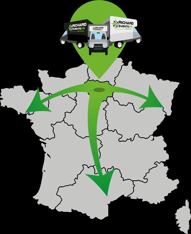 Transport dans toute la France avec Richard Events