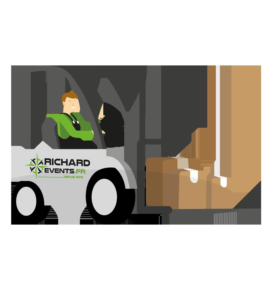 Logistique déménagement avec Richard Events